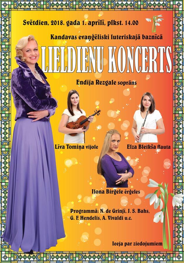 Endijas Rezgales koncerts Lieldienās