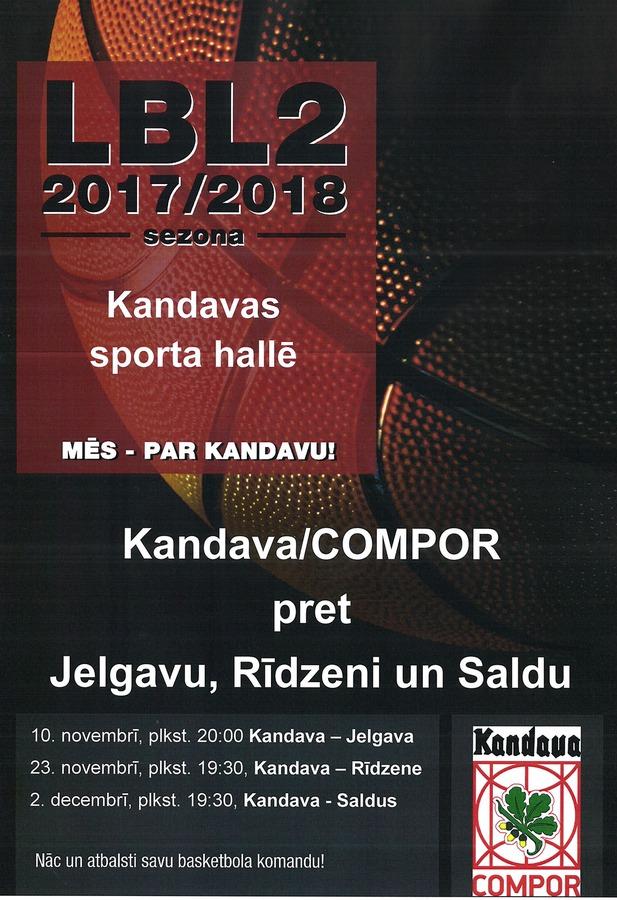 Basketbola spēle Kandava/COMPOR – Rīdzene