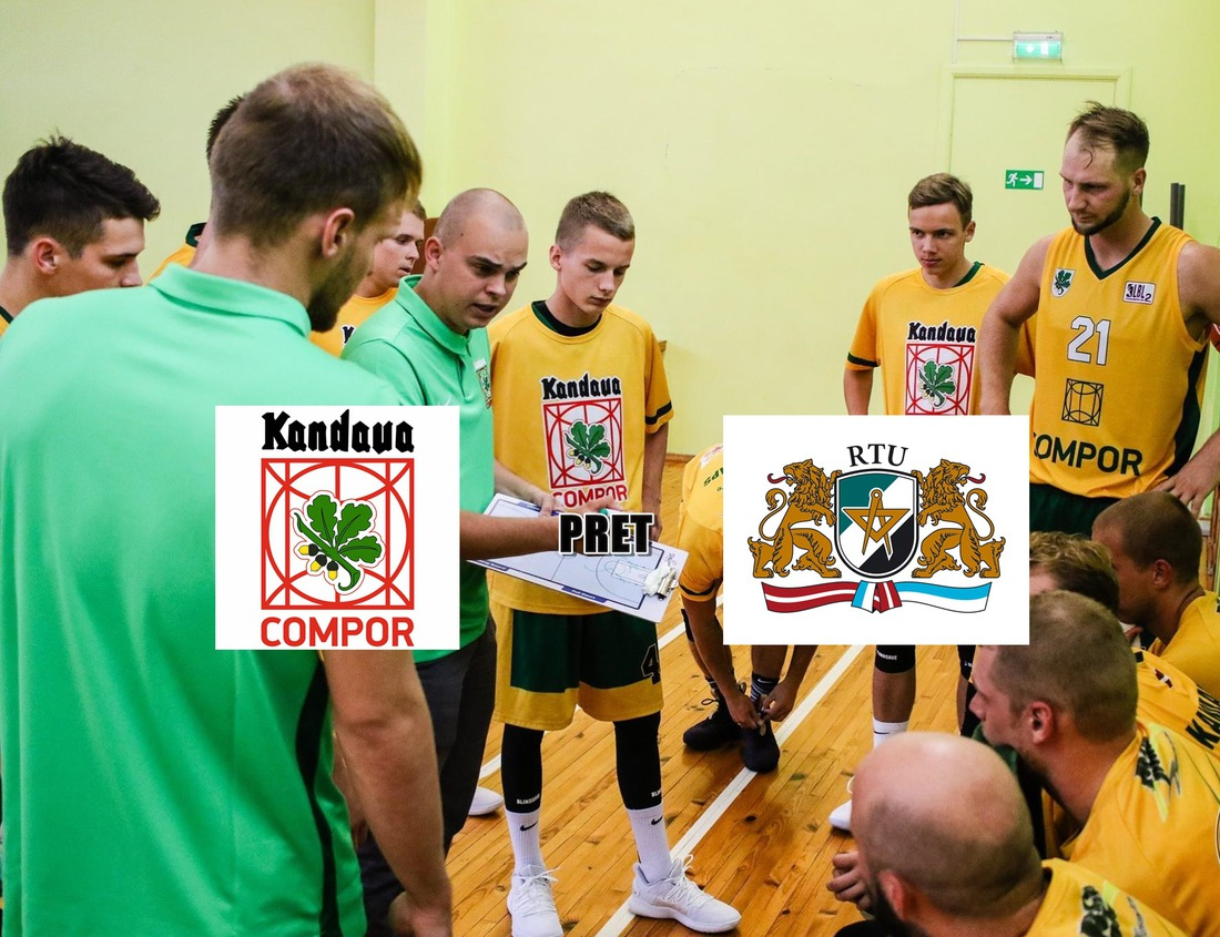 LBL2 basketbola spēle Kandava/COMPOR pret RTU