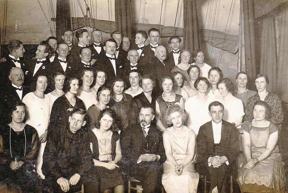 Kandavas Sadraudzīgās biedrības koris biedrības 25.gadu jubilejā, 1926.gada novembri