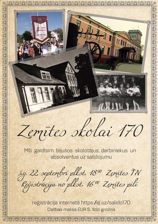 Zemītes skolas 170 gadu jubilejas salidojums