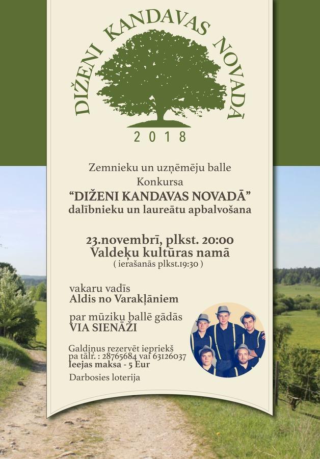 """Zemnieku-uzņēmēju balle """"Diženi Kandavas novadā"""" 2018"""
