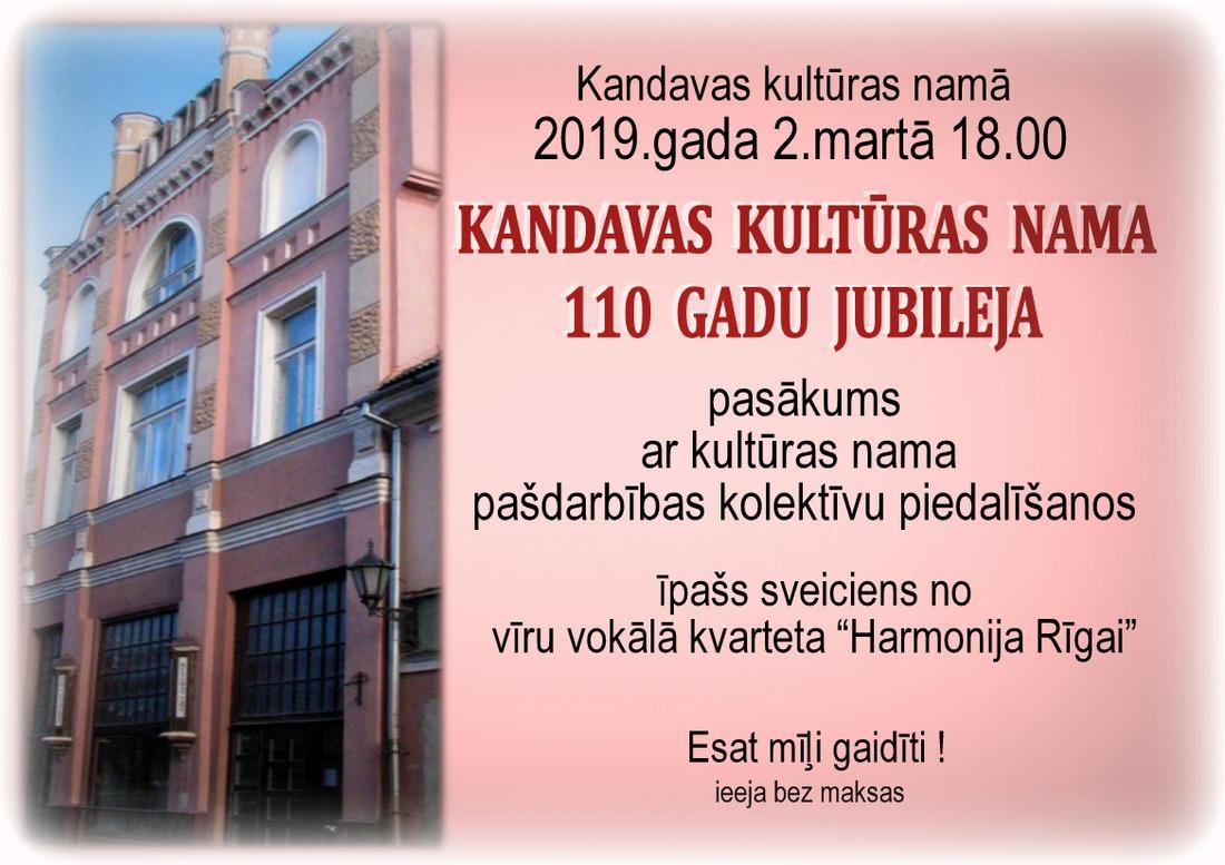 Kandavas kultūras nama 110 gadu jubileja