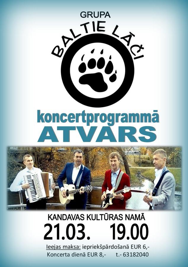 """Grupas """"BALTIE LĀČI"""" koncertprogramma """"Atvars"""""""