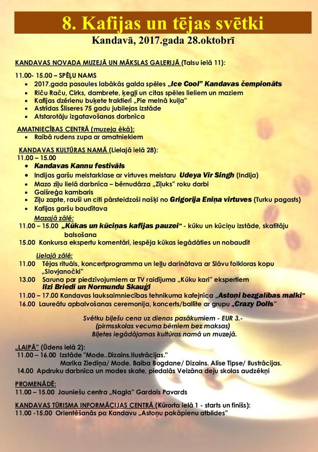 8.Kafijas un tējas svētki Kandavā