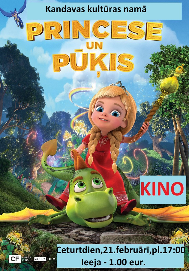 "Kino bērniem ""Princese un pūķis"""