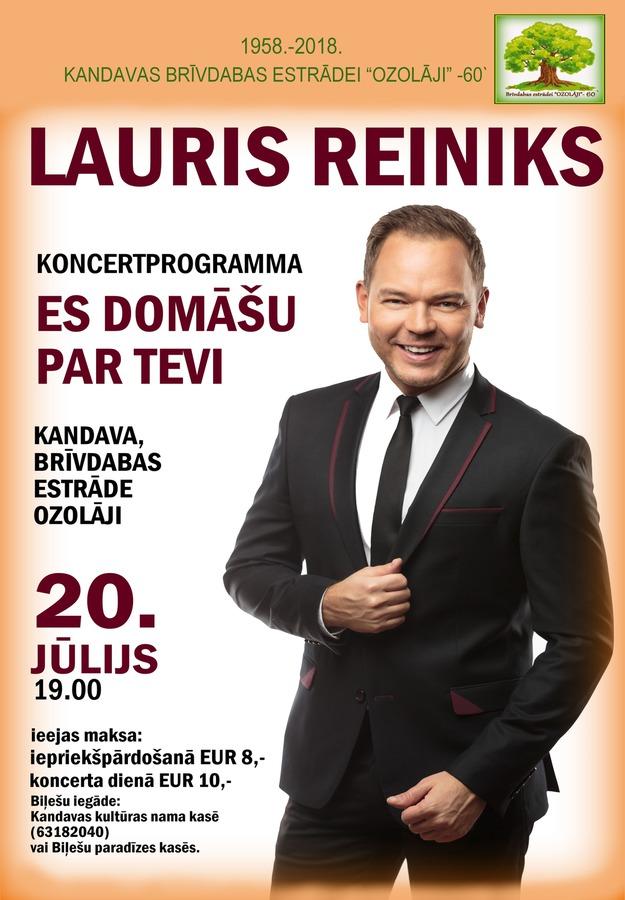 """LAURIS REINIKS,  koncerts """"Es domāšu par Tevi"""""""