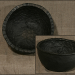 Bļoda. Diametrs 27.Keramikas bļoda.Svēpētā keramika, slāpētā keramika, melnā keramika, roku darbs, hand made, craftman, ceramica, food fired, Latvia, Kandavas keramikas ceplis