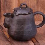 kandavas keramikas ceplis keramika tējkanna svēpētā slāpētā keramika