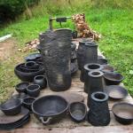 LATGALĒ.Svēpētā keramika, slāpētā keramika, melnā keramika, roku darbs, hand made, craftman, ceramica, food fired, Latvia, Kandavas keramikas ceplis
