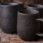 #keramika #ceramic #pottery #autumn #black #pot #tee #cup #Latvia #Latvija
