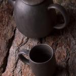 #keramika #ceramic #pottery #autumn #black #pot #tee #cup #Latvia #Latvija #plates