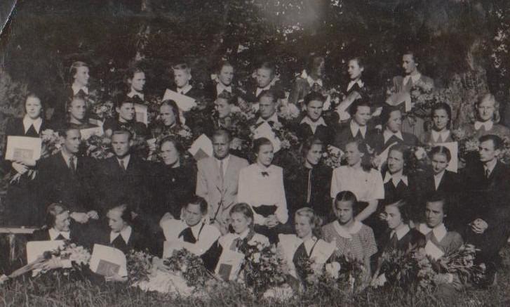 Vānes skolas izlaidums 1953