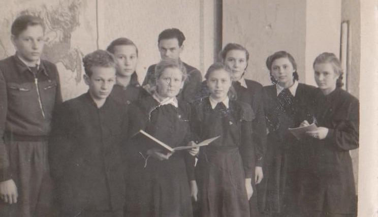 Vānes skolas izlaidums 1952