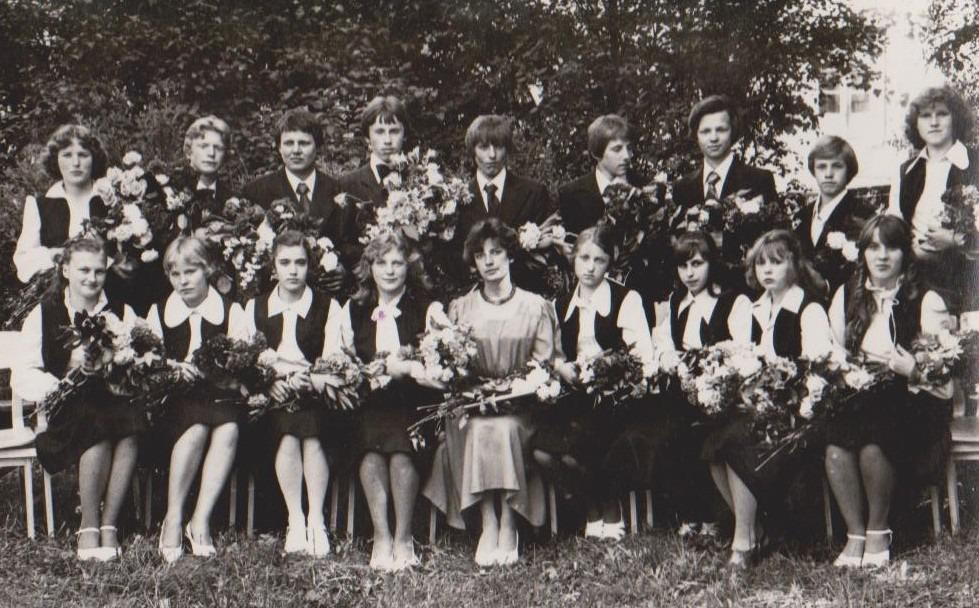 Vānes skolas izlaidums 1980