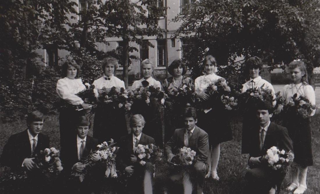 Vānes skolas izlaidums 1989