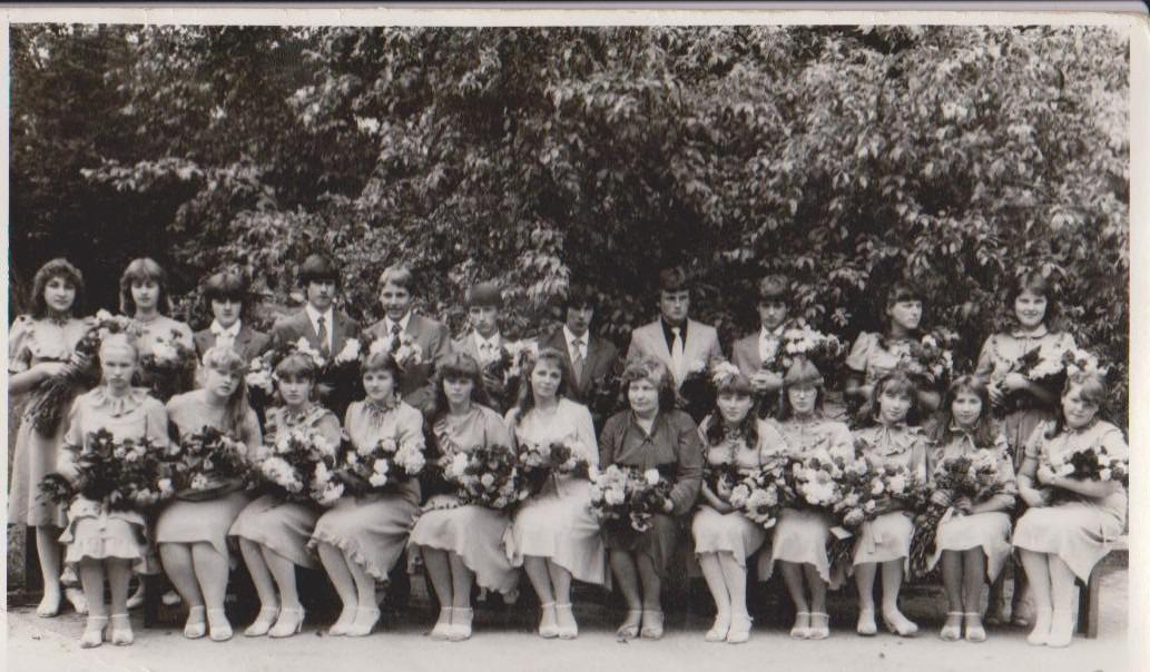 Vānes skolas izlaidums 1985