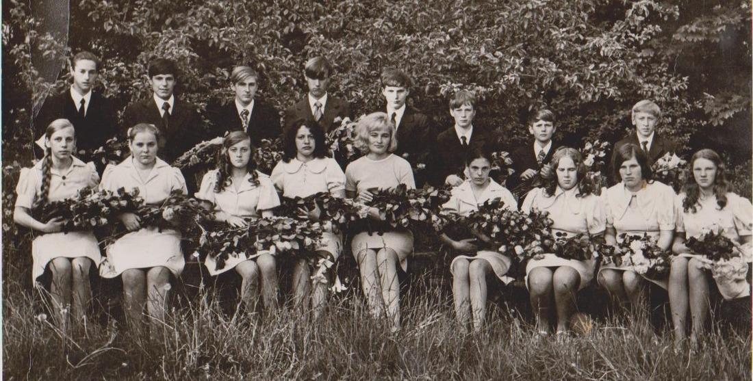 Vānes skolas izlaidums 1974