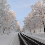 """2010.gada janvāris. Ceļš pie Kandavas """"Impro"""" foto konkursā godalgota bilde. Foto: Egils Rēdmanis"""