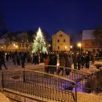 Kandavas promenāde 2014.gada Ziemassvētkos. Foto: Jānis Kamerāds
