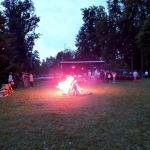 2012.gads. Jāņu ugunskurs Zemītē. Foto: Jānis Kamerāds