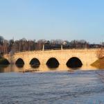 2018. gada pavasaris - Latvijas vecākais laukakmeņu tilts pār Abavu Kandavā. Foto: Jānis Kamerāds