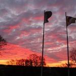 2013. gada rudens. Saullēkts pie Kandavas novada domes. Foto: Dagnija Gudriķe