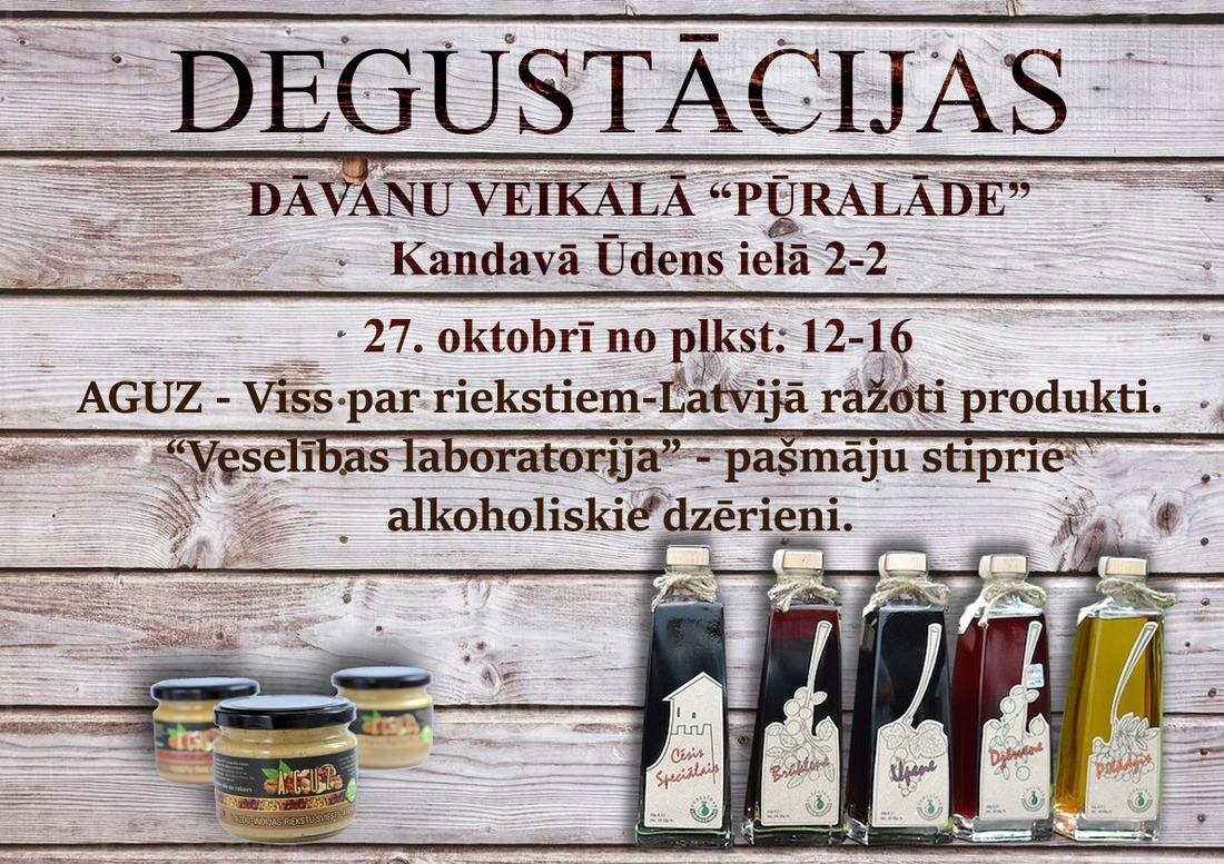 Latvijā ražotu produktu degustācija