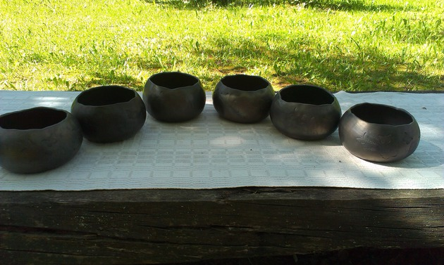 Ceramic clay cups without parts