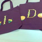 Izšūti iepirkuma maisiņi