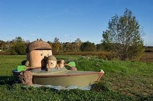 Zīļuks laivotājs, skulptūra